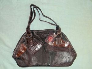 Brown Leather Ladies Tote Bag
